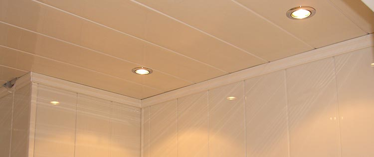 Finition lambris pvc plafond - Lambris pvc de couleur ...